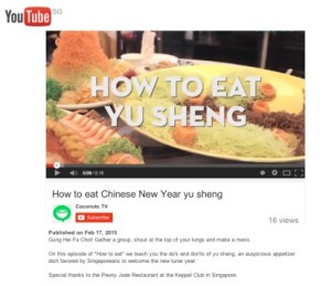 Coconuts TV YouTube - How to eat Chinese New Year yu sheng - 18 Feb 2015
